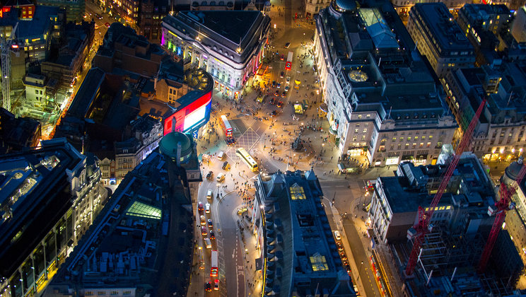 Piccadilly Circus Kesk-Londonis