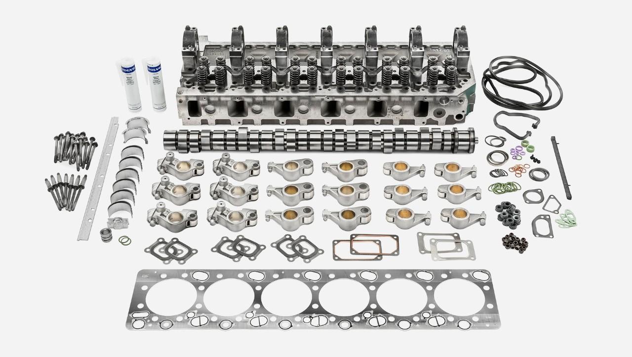 Volvo mootori kapitaalremondi komplekt – mootori ülemine osa.